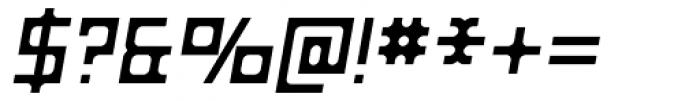 Razorsuite Oblique Font OTHER CHARS