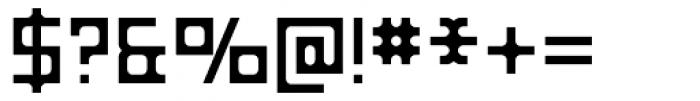 Razorsuite Regular Font OTHER CHARS