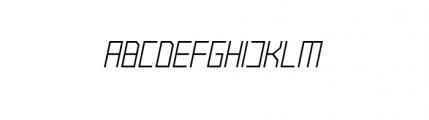 Raster Regular Oblique Font UPPERCASE