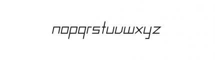 Raster Regular Oblique Font LOWERCASE