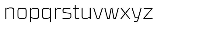 RBNo31 Extra Light Font LOWERCASE
