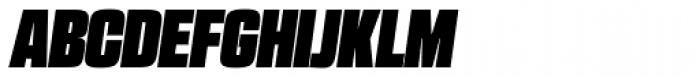 RBNo2.1 a Ultra Italic Font UPPERCASE