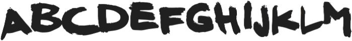 REAL MARKER ANGRY otf (400) Font LOWERCASE