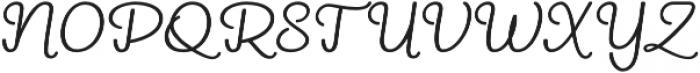 ReadHead Slant Regular otf (400) Font UPPERCASE