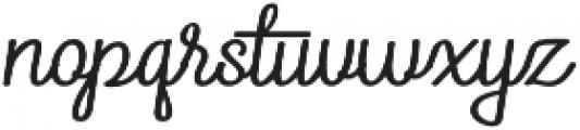 ReadHead Slant Regular otf (400) Font LOWERCASE