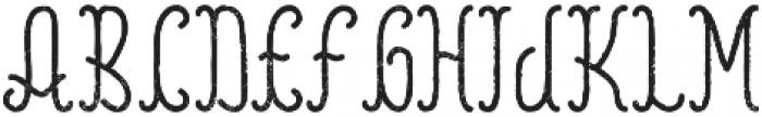 Reading Aged otf (400) Font LOWERCASE