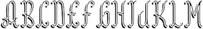 Reading InlineShadowFX otf (400) Font LOWERCASE