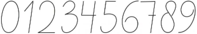 Reading Monoline Regular otf (400) Font OTHER CHARS