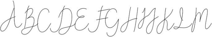 Reading Monoline Regular otf (400) Font UPPERCASE