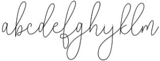 Reading Monoline Regular otf (400) Font LOWERCASE