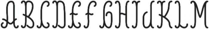 Reading Regular otf (400) Font LOWERCASE