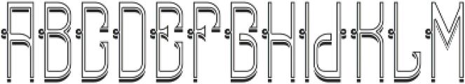 ReadingFont InlineShadow otf (400) Font UPPERCASE