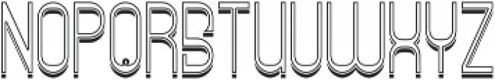 ReadingFont InlineShadow otf (400) Font LOWERCASE