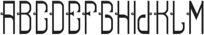 ReadingFont Regular otf (400) Font UPPERCASE