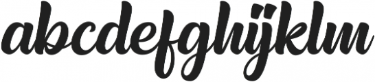 Realistica otf (400) Font LOWERCASE