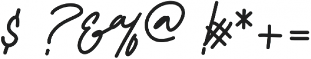 Reallishmy otf (400) Font OTHER CHARS