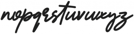 Reallishmy otf (400) Font LOWERCASE