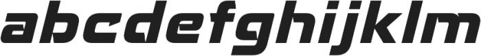 Recharge Heavy Italic otf (800) Font LOWERCASE