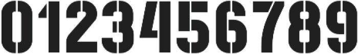 Recluta Stencil otf (400) Font OTHER CHARS