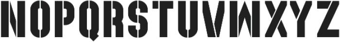 Recluta Stencil otf (400) Font LOWERCASE