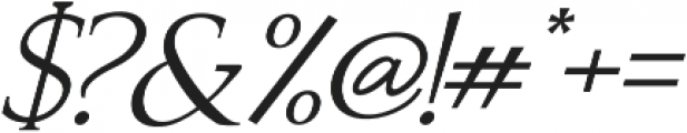 Recoba Italic otf (400) Font OTHER CHARS