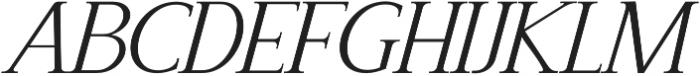 Recoba Italic otf (400) Font UPPERCASE