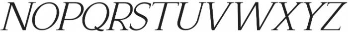 Recoba Italic otf (400) Font LOWERCASE