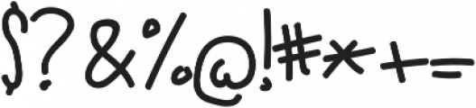 Red Dog Handwriting ttf (400) Font OTHER CHARS