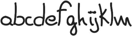Red Dog Handwriting ttf (400) Font LOWERCASE