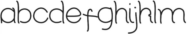 RedCloudLight Regular otf (300) Font LOWERCASE