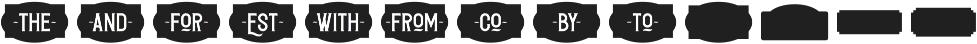 Redvolve Extras ttf (400) Font LOWERCASE