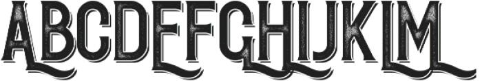 Redvolve Press Shadow ttf (400) Font UPPERCASE