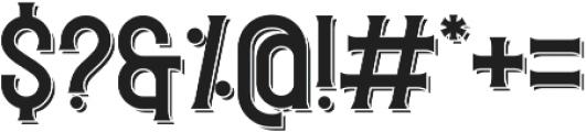 Redvolve Shadow ttf (400) Font OTHER CHARS