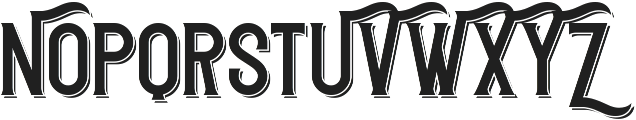 Redvolve Shadow ttf (400) Font UPPERCASE