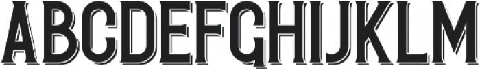 Redvolve Shadow ttf (400) Font LOWERCASE