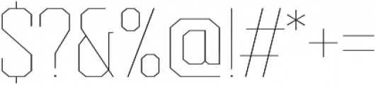 Redwing Hairline otf (100) Font OTHER CHARS