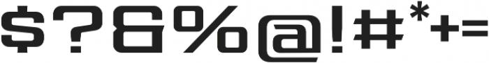 Redzone Medium Extd otf (500) Font OTHER CHARS