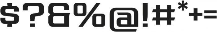 Redzone Medium SemiExtd otf (500) Font OTHER CHARS