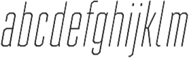 Refinery 15 Hairline Italic otf (100) Font LOWERCASE