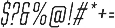 Refinery 15 Light Italic otf (300) Font OTHER CHARS