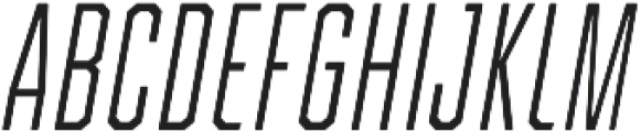 Refinery 15 Light Italic otf (300) Font UPPERCASE