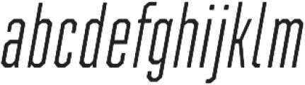 Refinery 15 Light Italic otf (300) Font LOWERCASE