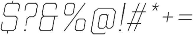 Refinery 55 Hairline Italic otf (100) Font OTHER CHARS