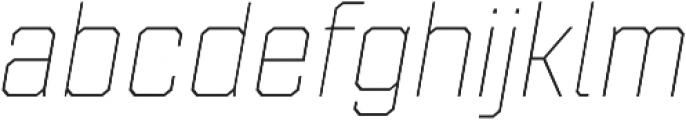 Refinery 55 Hairline Italic otf (100) Font LOWERCASE