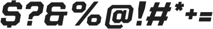 Refinery 75 Bold Italic otf (700) Font OTHER CHARS