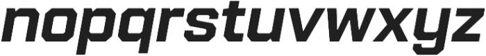 Refinery 75 Bold Italic otf (700) Font LOWERCASE