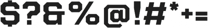 Refinery 75 Bold otf (700) Font OTHER CHARS