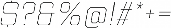 Refinery 75 Hairline Italic otf (100) Font OTHER CHARS