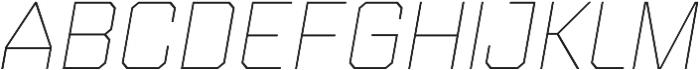 Refinery 75 Hairline Italic otf (100) Font UPPERCASE