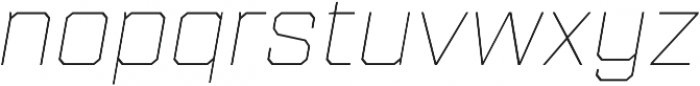 Refinery 75 Hairline Italic otf (100) Font LOWERCASE